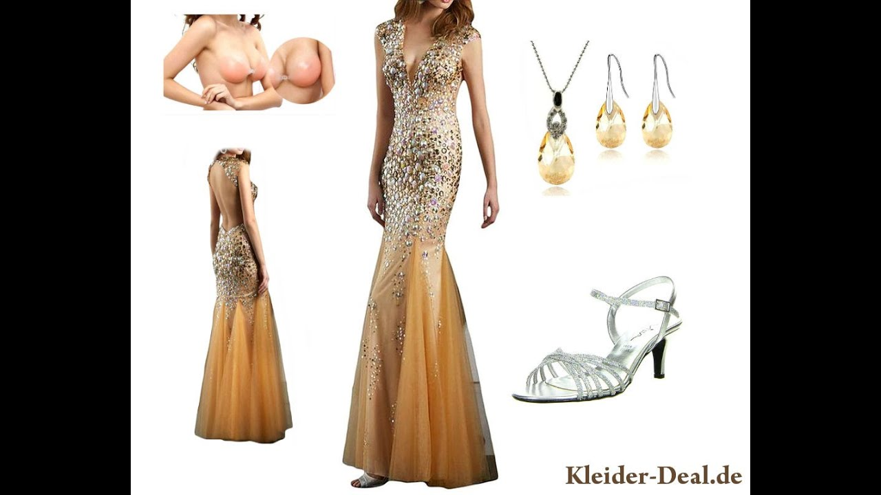 Kurze goldene kleider
