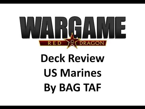 Wargame Red Dragon - US Marines Deck by BAG TAF