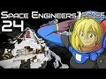 Attack of the drone battleship | Space Engineers Survival Gameplay | 24