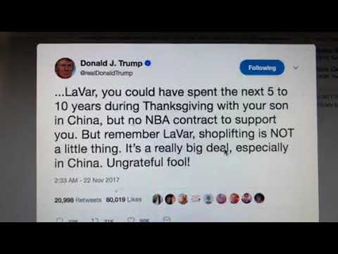 Donald Trump Calls LaVar Ball Ungrateful Fool In Latest Example Of Racist Tweets