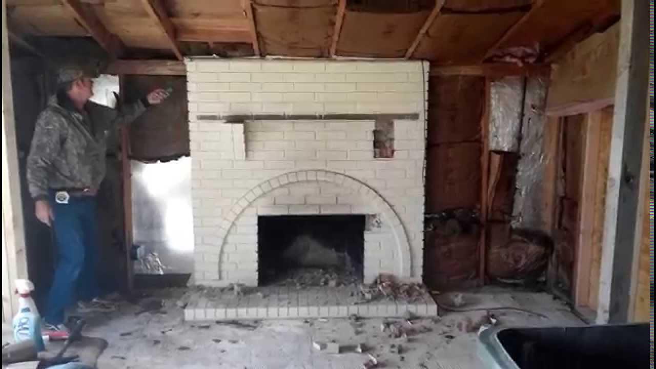 Redneck Fireplace Demolition - YouTube
