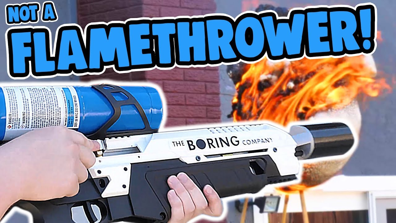 the boring company flamethrower by elon musk youtube. Black Bedroom Furniture Sets. Home Design Ideas