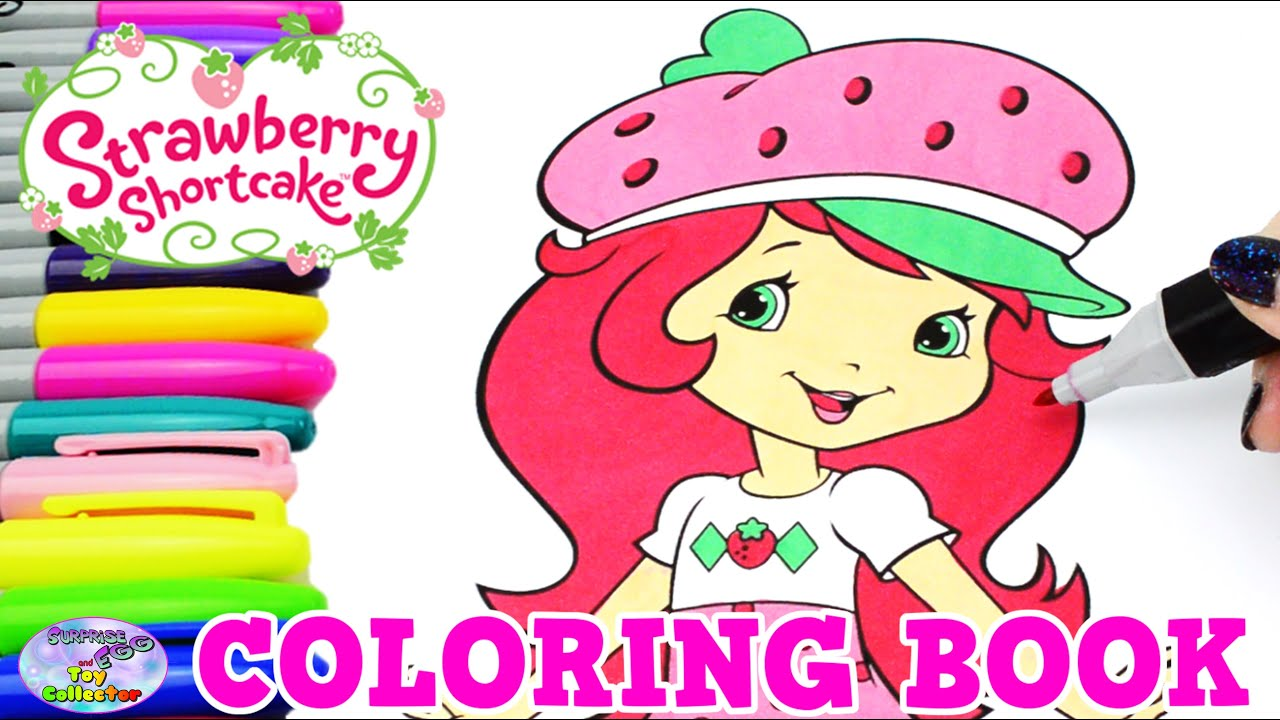 strawberry shortcake coloring book episode show surprise egg and