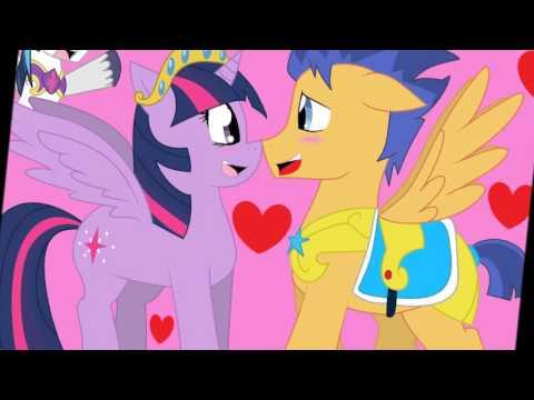 My little pony princess twilight sparkle and flash sentry kiss - photo#11