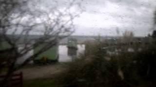 Floods Peninver caravan site