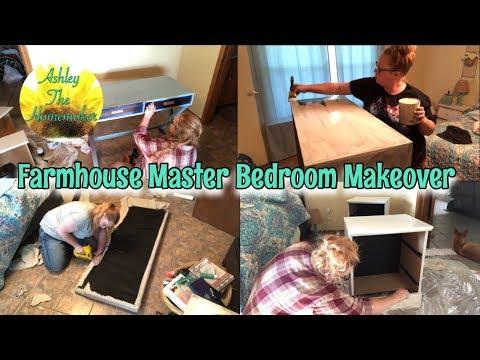 Farmhouse master bedroom makeover // DIY bedroom redo // #farmhouse #diy
