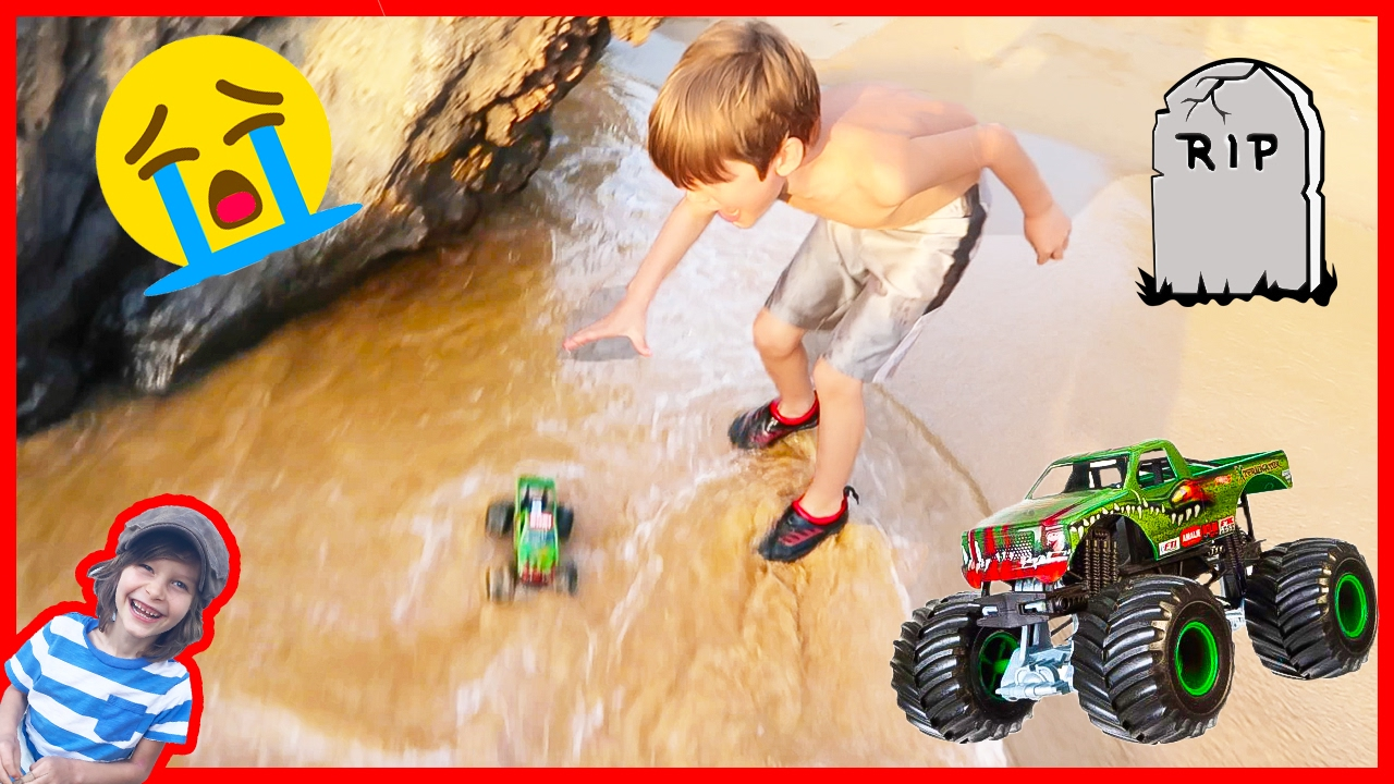 Monster Truck Lost At Sea Again Youtube