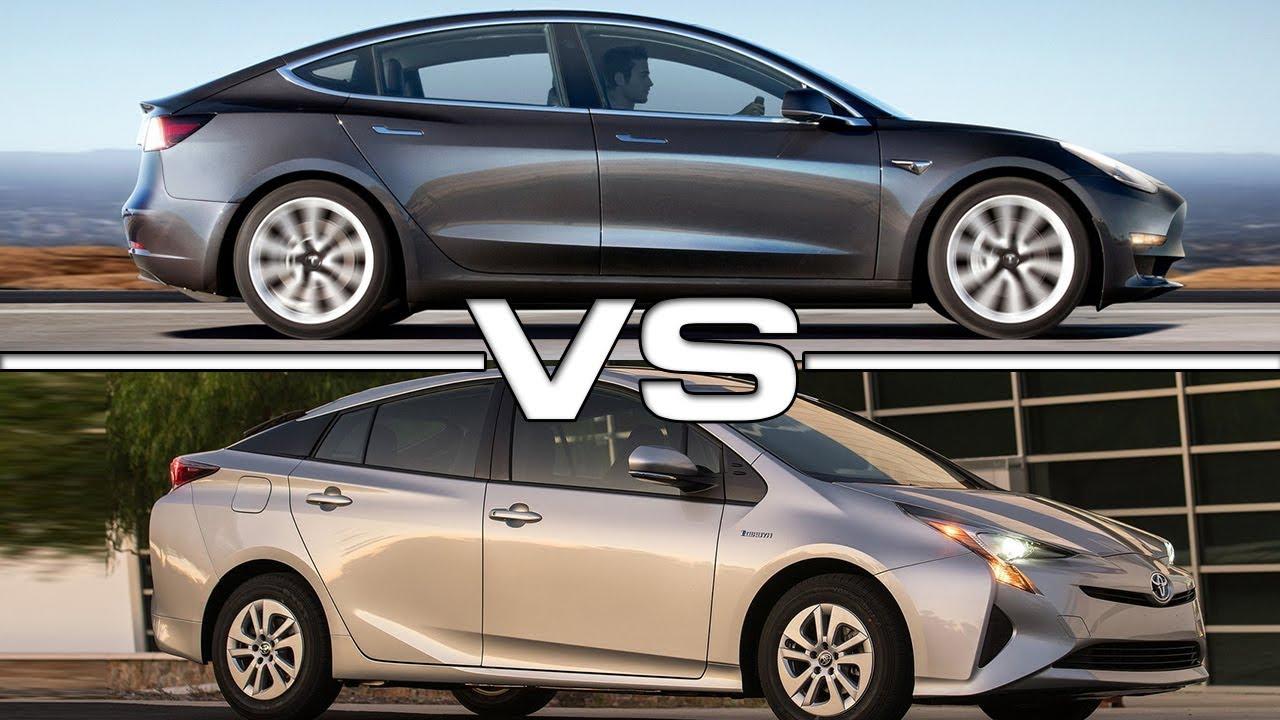 Prius prime vs tesla model 3