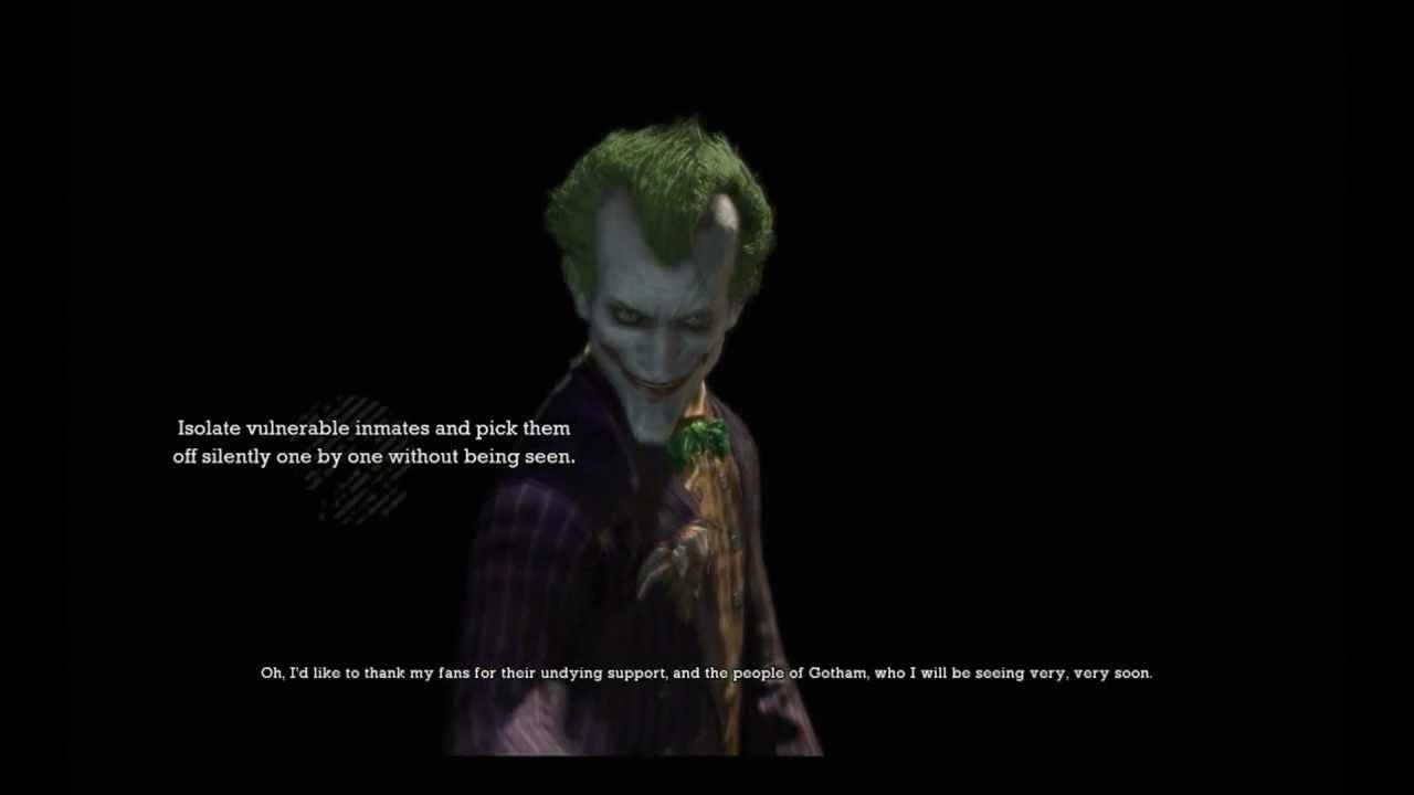 batman arkham asylum the joker s game over lines hd