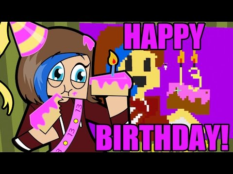 Minecraft / Happy 13th Birthday Audrey! / Birthday Party Pixel Painters! / Gamer Chad Plays
