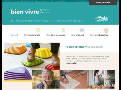 """Nouvelle fenêtre : Site """"Bien vivre - Senior dans l'Aube"""" : ateliers et conseils pour bien vieillir"""