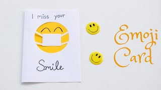 DIY Friendship Day Card | Unique Friendship Day Gift in Lockdown | Emoji Card DIY #friendshipday