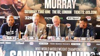Billy Joe Saunders vs Martin Murray PRESS CONFERENCE