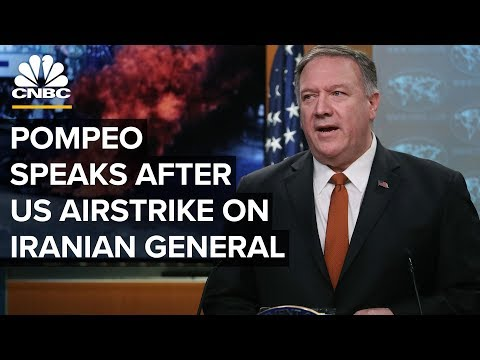 WATCH LIVE: Sec. Mike Pompeo speaks as US braces for more conflict with Iran – 1/7/2020