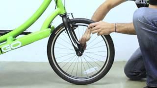 ElliptiGO Elliptical Bicycle Support Video #9 - Removing the ElliptiGO Front Wheel