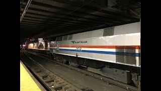 Amtrak Ethan Allan Express Train 291 Departs NY Penn Station w/ GE P32AC-DM 702 (5/29/19)