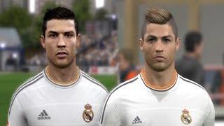 Cristiano Ronaldo from FIFA 04 to 14 & PES 3 to PES 2014