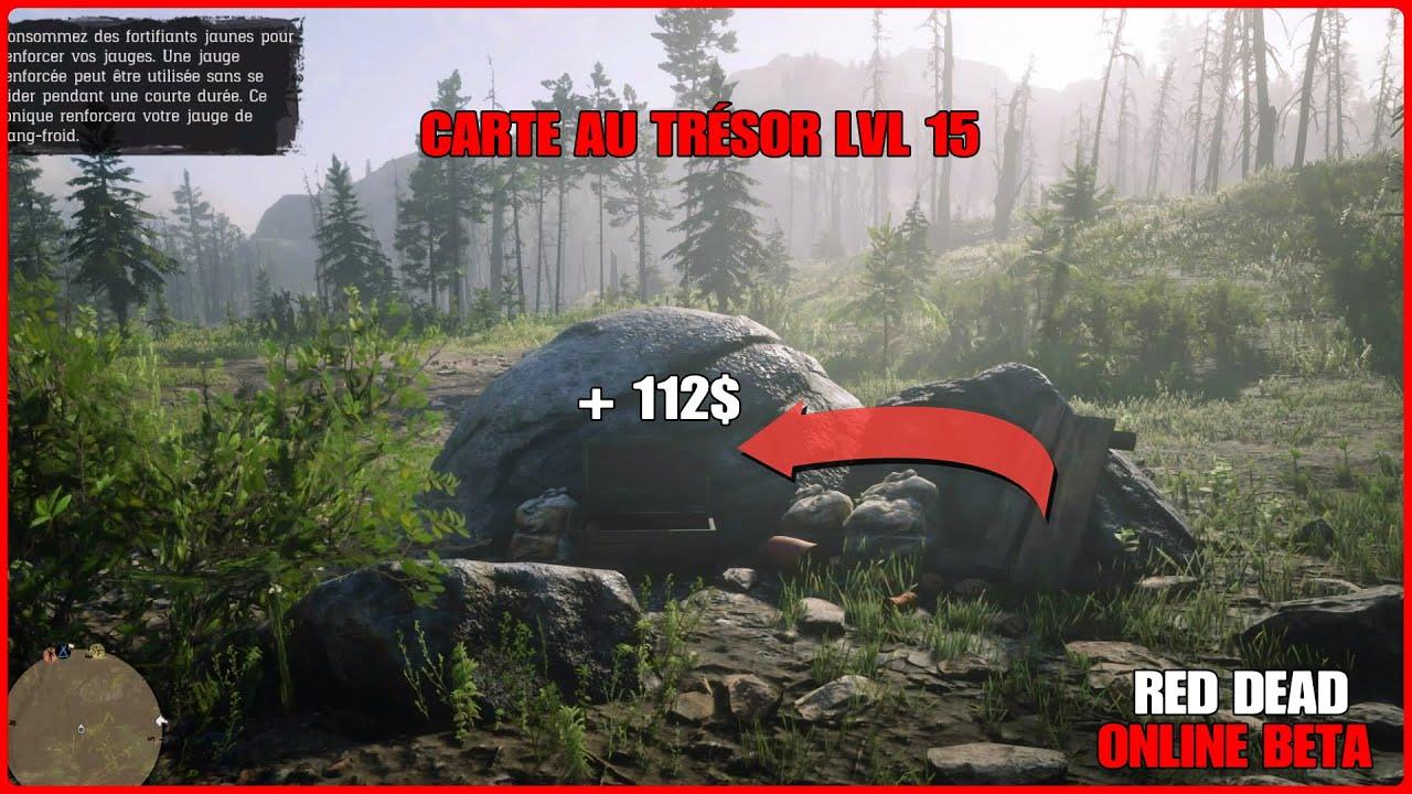 Localisation Carte Au Trésor Lvl 15 Red Dead Online