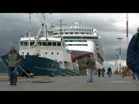 Norwegian Sun in port at Ushuaia, Argentina