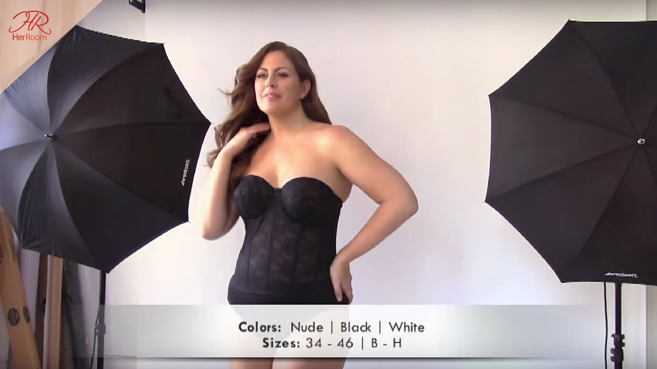 611f2768185 Elila Lace Strapless Longline Bra - YouTube