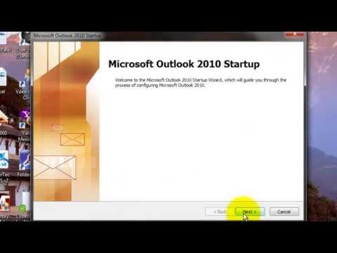 How to configure Microsoft Outlook 2010 (Hindi)