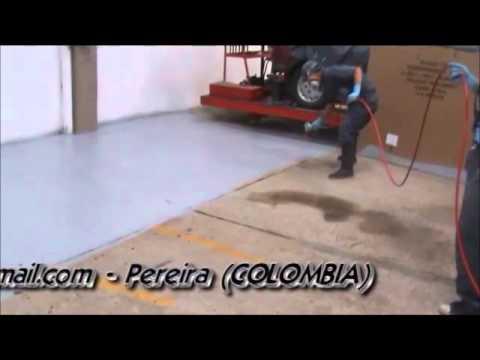 Pintura epoxica para pisos youtube for Pintura para pisos colores