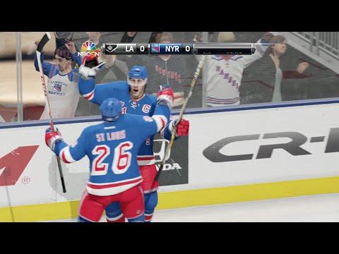 NHL 15 Demo Gameplay (Xbox One): Rangers Vs Kings (Madison Square Garden)