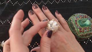 ASMR Jewelry ~ Ring Collection Show & Tell (Soft Spoken)