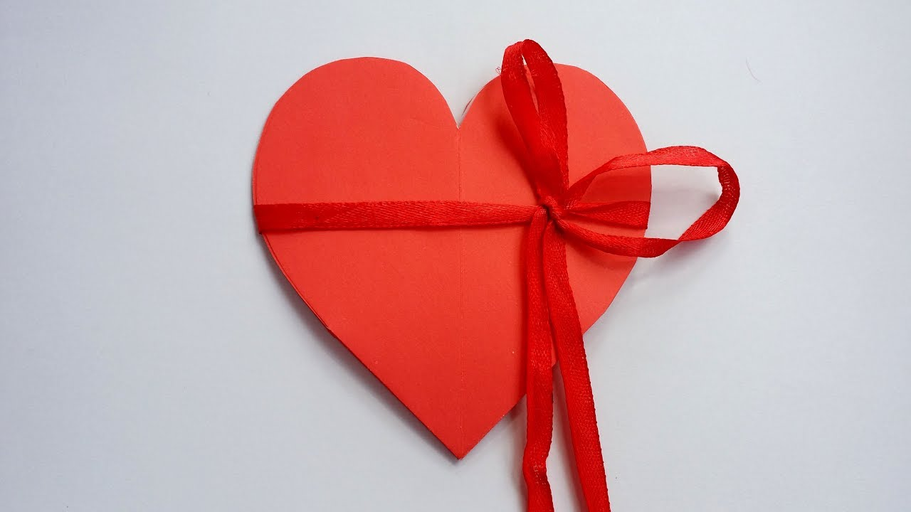 diy how to make heart shape card valentine pop up card