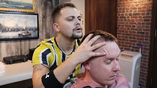 TURKISH BARBER SENSATION   Asmr Chair Massage In Turkish Barber Shop