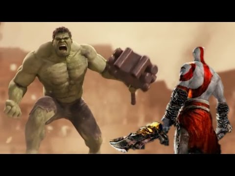 The Incridible Hulk Vs God Of War (Kratos)