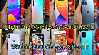 Excellent Condition High Eฑd Mobiles At Best Price|| Original Charger & Box🎁||