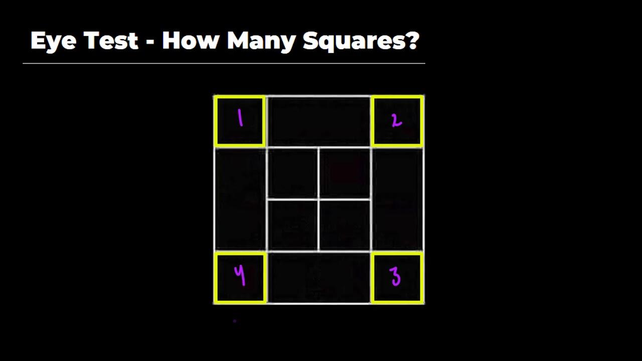 Eye Test How Many Squares Youtube Для просмотра онлайн кликните на видео ⤵. eye test how many squares