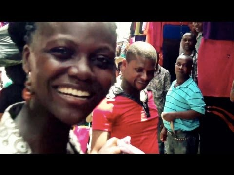 Crazy tour of Africa market - even our reporter is for sale! (real-life Yoruba Movies)