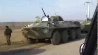 Russian army BTR 80 APCs at Kerch ferry on March 12, 2014 Crimea Ukraine source EuroMaidan PR