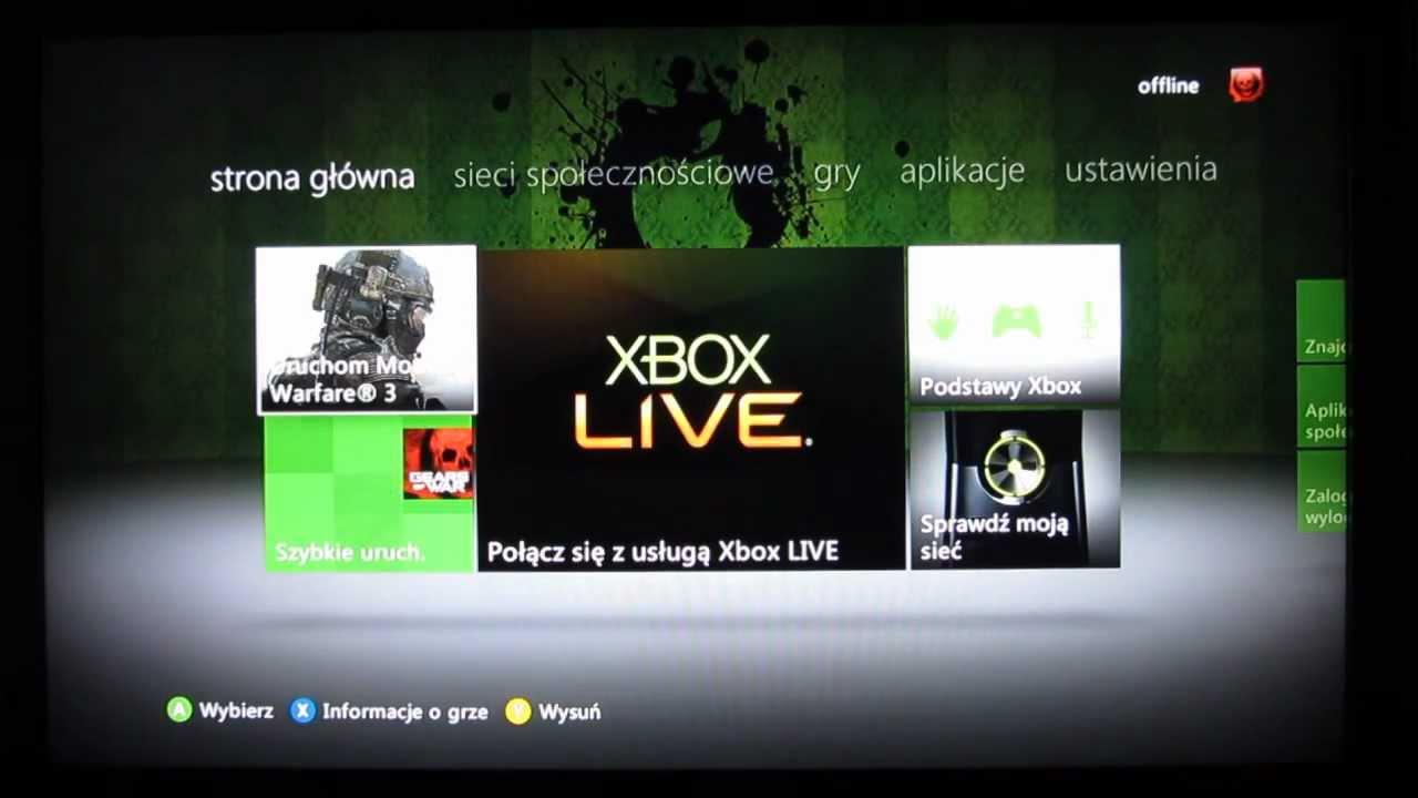 Xbox 360 Nowy Dashboard - Update 07.12.11 - YouTube