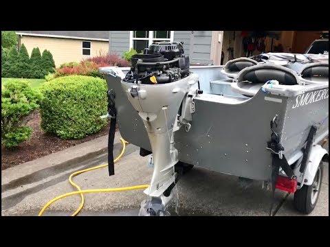 Honda BF15 outboard carburetor adjustment (idle speed)