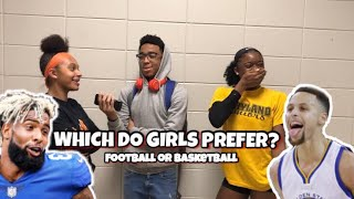 WHICH DO GIRLS PREFER? FOOTBALL OR BASKETBALL PLAYERS | SCHOOL EDITION