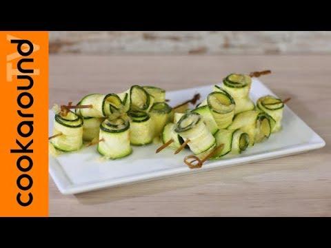 Buffet Natalizio Cookaround : Rotolini di zucchine youtube