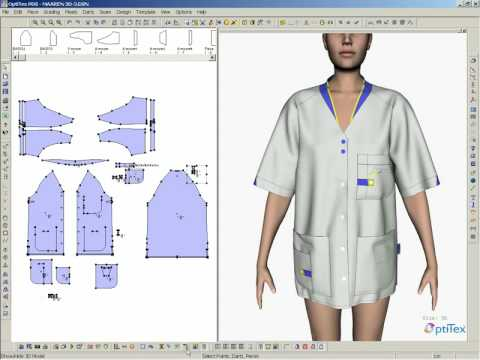 OptiTex software Stitching proces4 - YouTube