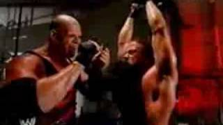 Kane Almost Burns RVD - Raw 2003