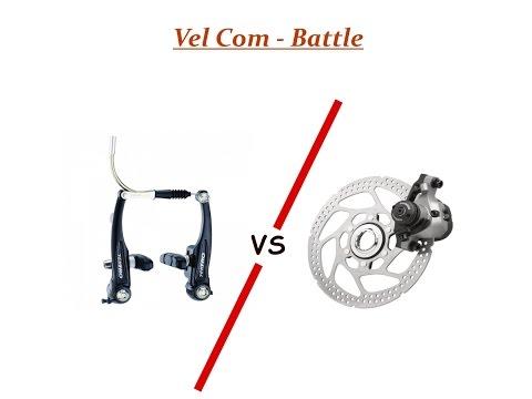 V-brake vs. Дисковая механика Vel Com - Battle
