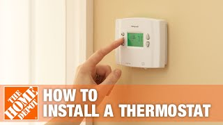 How To Install a Programmable Thermostat - The Home Depot