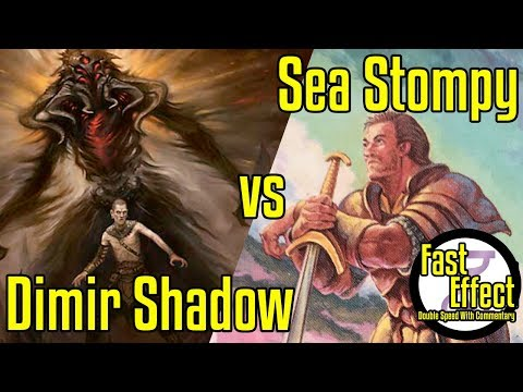 Dimir Shadow Vs Sea Stompy | Legacy Magic: The Gathering W/Commentary | Brainstorm MTG | Fast Effect