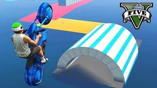 GTA V Online: SKILL TEST NA VELOCIDADE de MOTO TRON!!!