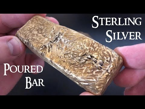 Pouring a Sterling Silver Bar! Silver Pouring - .925 Sterling Silver