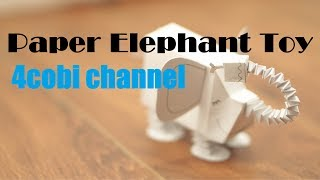 Wow ! Paper Elephant Toy - Paper craft for kids | | 4cobi channel