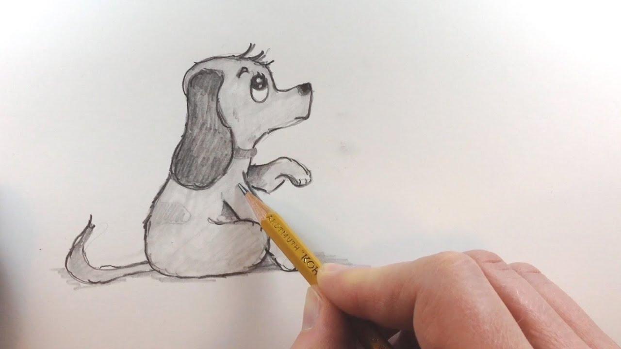 Dieren Tekenen Teken Een Hondje How To Draw A Cute Dog Youtube
