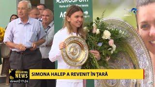 Ediţie specială TVR1: Revenirea Simonei Halep în ţară, după câştigarea trofeului de la Wimbledon