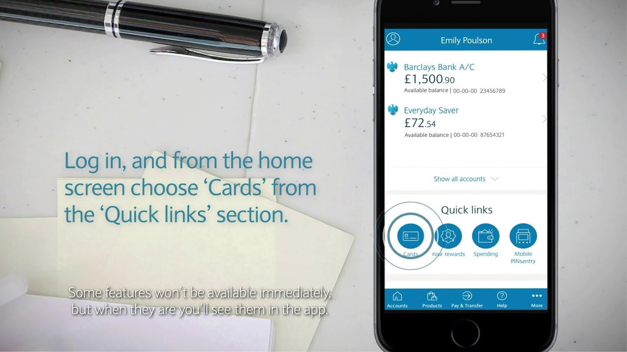 The Barclays App How To Get A Pin Reminder Youtube